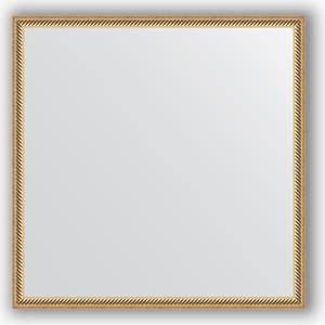 Зеркало в багетной раме Evoform Definite 68x68 см, витое золото 28 мм (BY 0657)