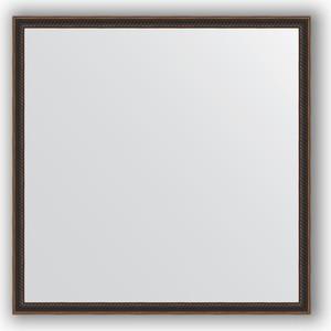 купить Зеркало в багетной раме Evoform Definite 68x68 см, витой махагон 28 мм (BY 0658) онлайн