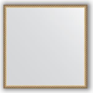 Зеркало в багетной раме Evoform Definite 68x68 см, витая латунь 26 мм (BY 0669)