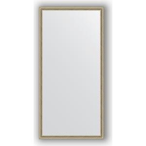 Зеркало в багетной раме поворотное Evoform Definite 48x98 см, витое серебро 28 мм (BY 0691) зеркало в багетной раме поворотное evoform definite 48x98 см вишня 22 мм by 0688
