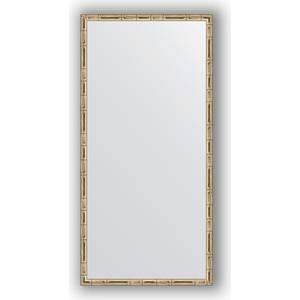 Зеркало в багетной раме поворотное Evoform Definite 47x97 см, серебряный бамбук 24 мм (BY 0694) зеркало в багетной раме evoform definite 67x67 см серебряный бамбук 24 мм by 0659