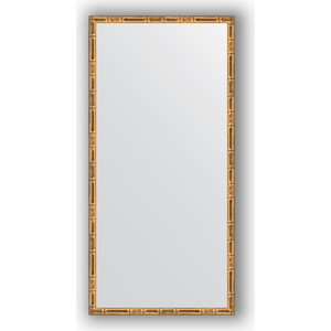 Зеркало в багетной раме поворотное Evoform Definite 47x97 см, золотой бамбук 24 мм (BY 0695) зеркало в багетной раме поворотное evoform definite 47x67 см серебряный бамбук 24 мм by 0625