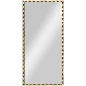 Зеркало в багетной раме поворотное Evoform Definite 48x98 см, витая латунь 26 мм (BY 0703)