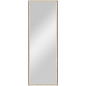 Зеркало в багетной раме поворотное Evoform Definite 48x138 см, витое серебро 28 мм (BY 0708) зеркало в багетной раме поворотное evoform definite 48x138 см махагон 22 мм by 0707