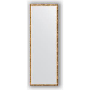 Зеркало в багетной раме поворотное Evoform Definite 47x137 см, золотой бамбук 24 мм (BY 0712) зеркало в багетной раме evoform definite 67x67 см серебряный бамбук 24 мм by 0659