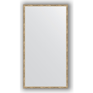 Зеркало в багетной раме поворотное Evoform Definite 57x107 см, серебряный бамбук 24 мм (BY 0728) зеркало в багетной раме поворотное evoform definite 47x97 см золотой бамбук 24 мм by 0695