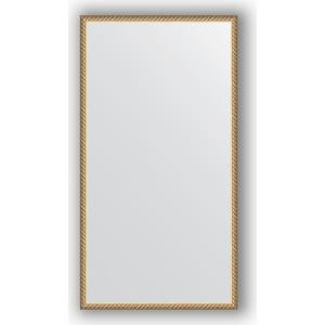 Зеркало в багетной раме поворотное Evoform Definite 58x108 см, витая латунь 26 мм (BY 0737) зеркало в багетной раме evoform definite 68x68 см витая латунь 26 мм by 0669