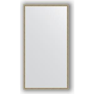 Зеркало в багетной раме поворотное Evoform Definite 68x128 см, витое серебро 28 мм (BY 0742)