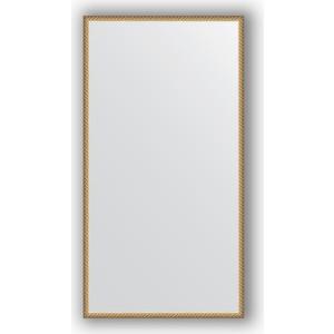 Зеркало в багетной раме поворотное Evoform Definite 68x128 см, витая латунь 26 мм (BY 0754)