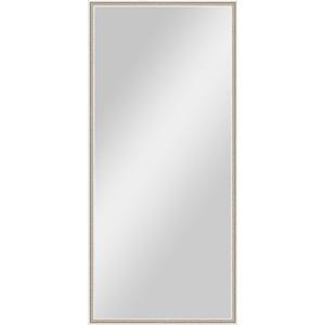 Зеркало в багетной раме поворотное Evoform Definite 68x148 см, витое серебро 28 мм (BY 0759)
