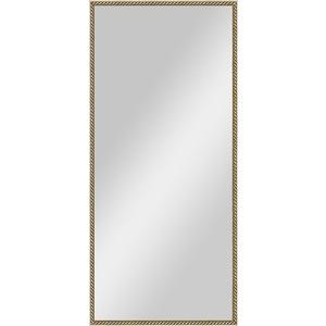 Зеркало в багетной раме поворотное Evoform Definite 68x148 см, витая латунь 26 мм (BY 0771) evoform definite by 1018