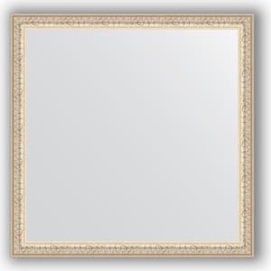 Зеркало в багетной раме Evoform Definite 61x61 см, мельхиор 41 мм (BY 0775)