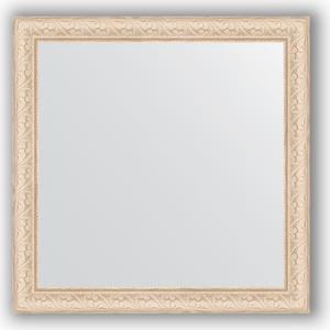 Зеркало в багетной раме Evoform Definite 64x64 см, беленый дуб 57 мм (BY 0781)