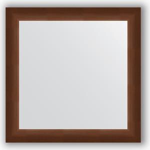Зеркало в багетной раме Evoform Definite 66x66 см, орех 65 мм (BY 0784) зеркало 66х66 см орех evoform definite by 0784