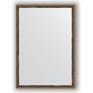 Зеркало в багетной раме поворотное Evoform Definite 48x68 см, витая бронза 26 мм (BY 0787)