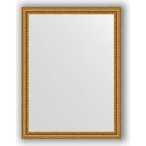 Зеркало в багетной раме поворотное Evoform Definite 62x82 см, бусы золотые 46 мм (BY 1007)