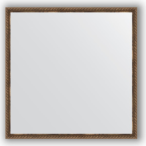 Зеркало в багетной раме Evoform Definite 68x68 см, витая бронза 26 мм (BY 1017)