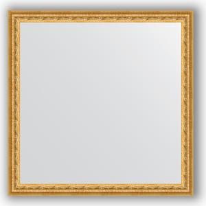 Зеркало в багетной раме Evoform Definite 72x72 см, сусальное золото 47 мм (BY 1023) фото