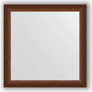Зеркало в багетной раме Evoform Definite 76x76 см, орех 65 мм (BY 1029)