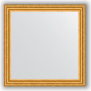 Зеркало в багетной раме Evoform Definite 76x76 см, состаренное золото 67 мм (BY 1031)