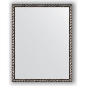 Зеркало в багетной раме поворотное Evoform Definite 70x90 см, черненое серебро 38 мм (BY 1033)