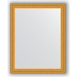 Зеркало в багетной раме поворотное Evoform Definite 76x96 см, состаренное золото 67 мм (BY 1046) цены