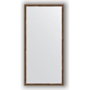 Зеркало в багетной раме поворотное Evoform Definite 48x98 см, витая бронза 26 мм (BY 1047)