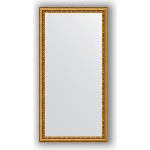 Зеркало в багетной раме поворотное Evoform Definite 52x102 см, бусы золотые 46 мм (BY 1052)