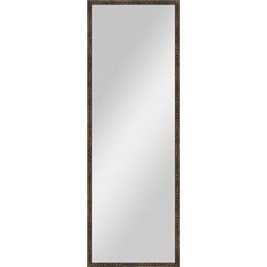 Зеркало в багетной раме поворотное Evoform Definite 48x138 см, витая бронза 26 мм (BY 1062)