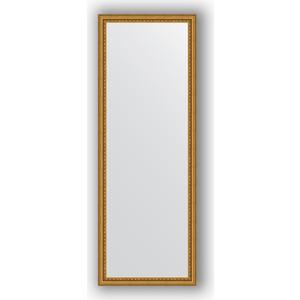 Фото - Зеркало в багетной раме поворотное Evoform Definite 52x142 см, бусы золотые 46 мм (BY 1067) зеркало в багетной раме поворотное evoform definite 52x142 см сусальное золото 47 мм by 1068