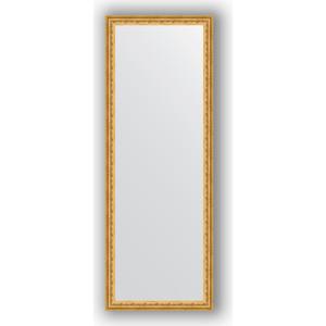 Фото - Зеркало в багетной раме поворотное Evoform Definite 52x142 см, сусальное золото 47 мм (BY 1068) зеркало в багетной раме поворотное evoform definite 52x142 см сусальное золото 47 мм by 1068