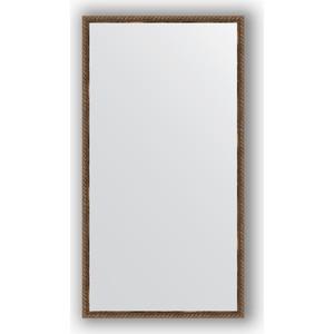 Зеркало в багетной раме поворотное Evoform Definite 58x108 см, витая бронза 26 мм (BY 1077)