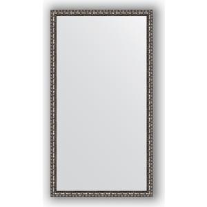 Зеркало в багетной раме поворотное Evoform Definite 60x110 см, черненое серебро 38 мм (BY 1078) зеркало в багетной раме поворотное evoform definite 60x110 см черный дуб 37 мм by 0734