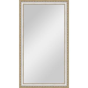 Зеркало в багетной раме поворотное Evoform Definite 65x115 см, золотые бусы на серебре 60 мм (BY 1087) фото