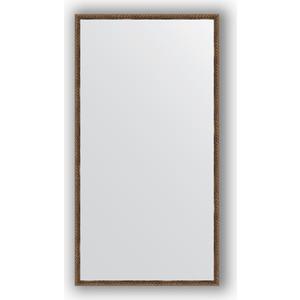 Зеркало в багетной раме поворотное Evoform Definite 68x128 см, витая бронза 26 мм (BY 1092)