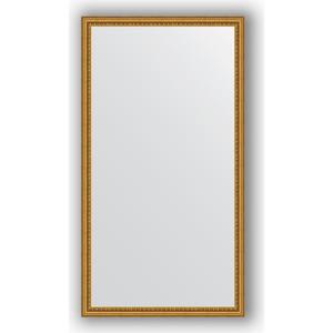 Зеркало в багетной раме поворотное Evoform Definite 72x132 см, бусы золотые 46 мм (BY 1097)