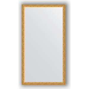 цены Зеркало в багетной раме поворотное Evoform Definite 72x132 см, сусальное золото 47 мм (BY 1098)