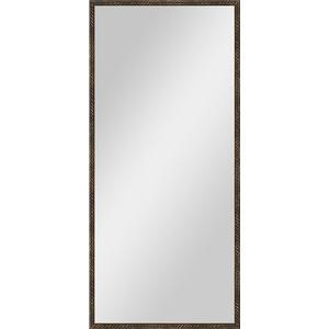 Зеркало в багетной раме поворотное Evoform Definite 68x148 см, витая бронза 26 мм (BY 1107)