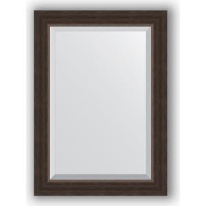 Зеркало с фацетом в багетной раме поворотное Evoform Exclusive 51x71 см, палисандр 62 мм (BY 1124) цена
