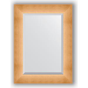 Зеркало с фацетом в багетной раме поворотное Evoform Exclusive 56x76 см, травленое золото 87 мм (BY 1131) зеркало с фацетом в багетной раме evoform exclusive 46x56 см травленое золото 87 мм by 1363