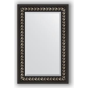 Зеркало с фацетом в багетной раме поворотное Evoform Exclusive 55x85 см, черный ардеко 81 мм (BY 1135)