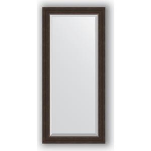 Зеркало с фацетом в багетной раме поворотное Evoform Exclusive 51x111 см, палисандр 62 мм (BY 1144)
