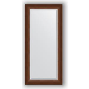 Зеркало с фацетом в багетной раме поворотное Evoform Exclusive 52x112 см, орех 65 мм (BY 1147) цены