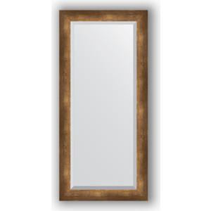 Зеркало с фацетом в багетной раме поворотное Evoform Exclusive 52x112 см, состаренная бронза 66 мм (BY 1148) зеркало evoform by 1148