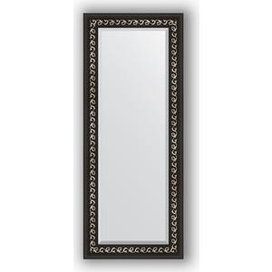 Зеркало с фацетом в багетной раме поворотное Evoform Exclusive 55x135 см, черный ардеко 81 мм (BY 1155)