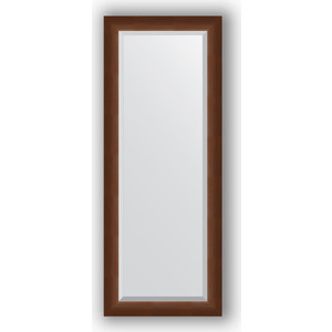 Зеркало с фацетом в багетной раме поворотное Evoform Exclusive 52x132 см, орех 65 мм (BY 1157)