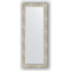 Зеркало с фацетом в багетной раме поворотное Evoform Exclusive 51x131 см, алюминий 61 мм (BY 1159) зеркало с фацетом в багетной раме поворотное evoform exclusive 51x131 см палисандр 62 мм by 1154