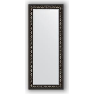 Зеркало с фацетом в багетной раме поворотное Evoform Exclusive 60x145 см, черный ардеко 81 мм (BY 1165)