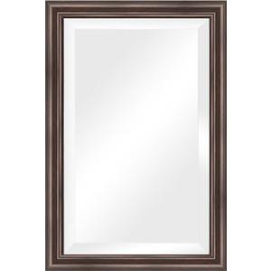 Зеркало с фацетом в багетной раме поворотное Evoform Exclusive 61x91 см, палисандр 62 мм (BY 1174) цена