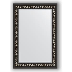 Зеркало с фацетом в багетной раме поворотное Evoform Exclusive 65x95 см, черный ардеко 81 мм (BY 1175)